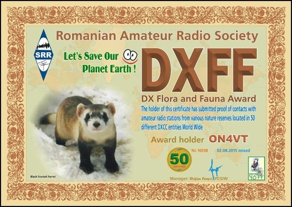 DXFF 50 M 2015 ON4VT N0381